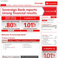 sovereignbank.com screenshot