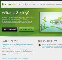 spring.io screenshot