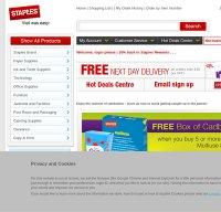 staples.co.uk screenshot