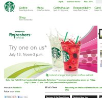 starbucks.com screenshot