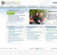 studentloans.gov screenshot