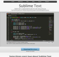 sublimetext.com screenshot