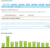 subtitleseeker.com screenshot