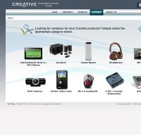 support.creative.com screenshot