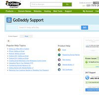 support.godaddy.com screenshot
