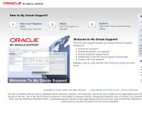 support.oracle.com screenshot