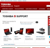 support.toshiba.com screenshot