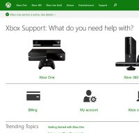 support.xbox.com screenshot