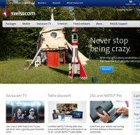 swisscom.ch screenshot