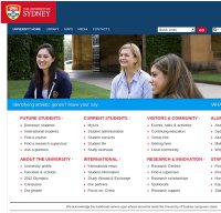sydney.edu.au screenshot