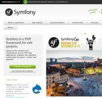 symfony.com screenshot