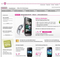 t-mobile.de screenshot