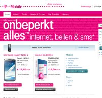 t-mobile.nl screenshot