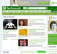 technorati.com screenshot