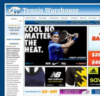 tennis-warehouse.com screenshot
