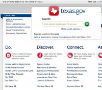 texas.gov screenshot