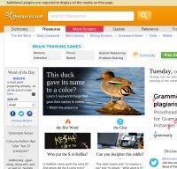 thesaurus.com screenshot