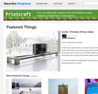 thingiverse.com screenshot
