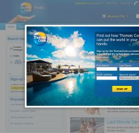 thomascook.com screenshot