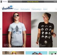 threadless.com screenshot