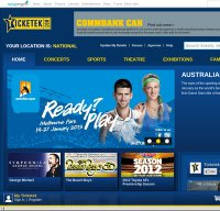 ticketek.com.au screenshot