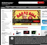 ticketmaster.co.uk screenshot