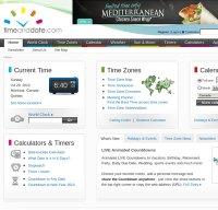 timeanddate.com screenshot