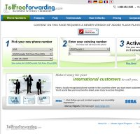 tollfreeforwarding.com screenshot