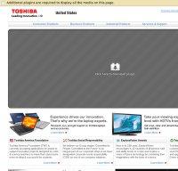 toshiba.com screenshot
