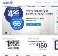 tradeking.com screenshot
