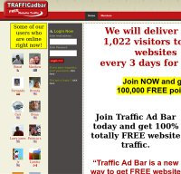 trafficadbar.com screenshot