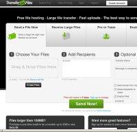 transferbigfiles.com screenshot