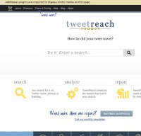 tweetreach.com screenshot