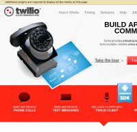 twilio.com screenshot