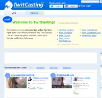 twitcasting.tv screenshot
