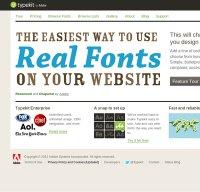 typekit.com screenshot