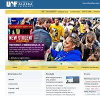 uaf.edu screenshot