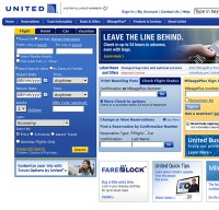united.com screenshot