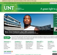 unt.edu screenshot