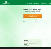 utorrent.com screenshot