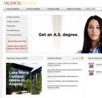 valenciacollege.edu screenshot