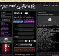 is vampirefreaks down