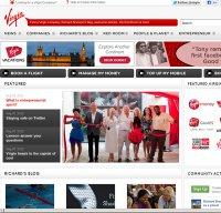 virgin.com screenshot