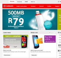 vodacom.co.za screenshot