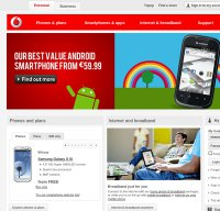 vodafone.ie screenshot