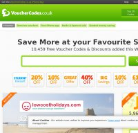 vouchercodes.co.uk screenshot