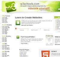 w3schools.com screenshot