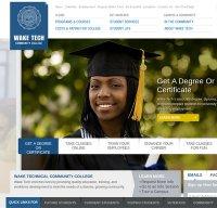 waketech.edu screenshot