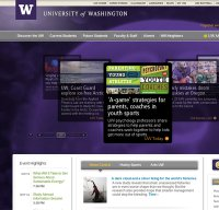 washington.edu screenshot