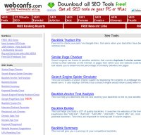 webconfs.com screenshot